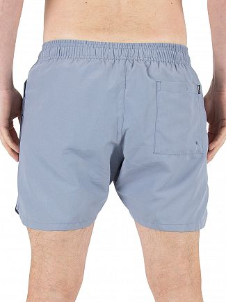 Calvin Klein Faded Denim Retro Logo Swim Shorts