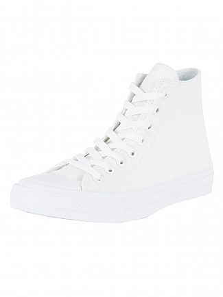 Converse White/Navy CTAS II Hi Trainers