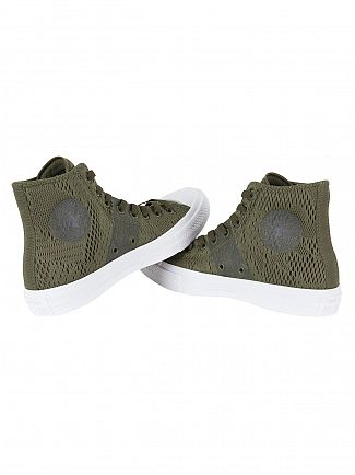 Converse Herbal/White/Gum CTAS II Mesh Hi Trainers