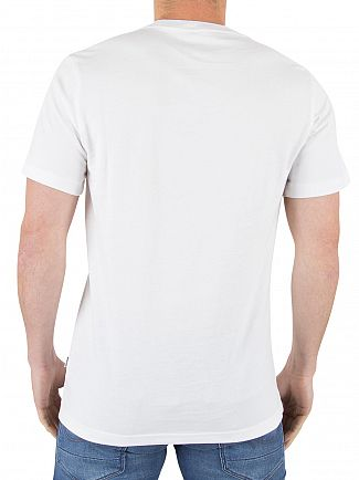 Converse White Flyknit Wordmark Stacked Graphic T-Shirt