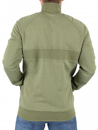 Converse Fatigue Green Mesh Rib Logo Track Jacket