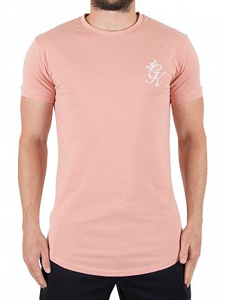 Gym King Rose Dawn Longline Logo T-Shirt