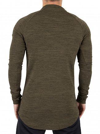 Kings Will Dream Khaki Marl Arvens Longsleeved Logo T-Shirt