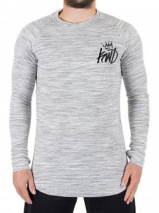 Kings Will Dream Ice Marl Arvens Longsleeved Logo T-Shirt