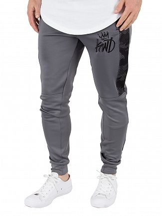 Kings Will Dream Charcoal/Camo Gasper Mesh Panel Logo Joggers