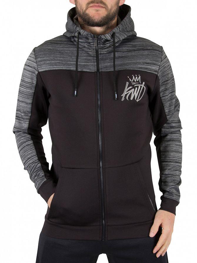 Kings Will Dream Black/Spc Dye Merton Logo Marled Panel Hoodie