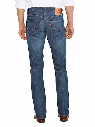 Levi's Mostly Mid Blue 527 Slim Boot Cut Jeans