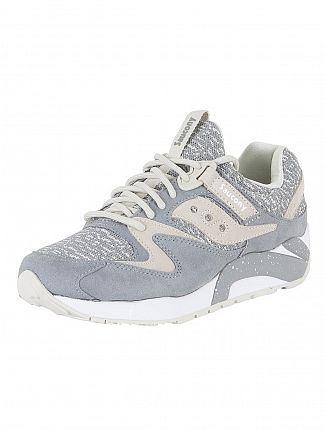 Saucony Grey Grid 9000 Trainers