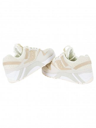 Saucony Cream Grid 9000 Trainers