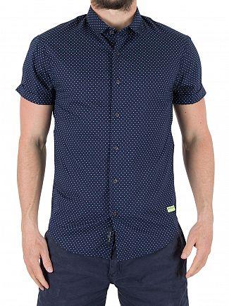 Scotch & Soda Combo A Classic Shortsleeved Square Patten Shirt