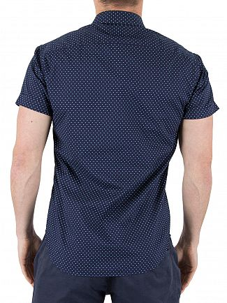 Scotch & Soda Combo A Classic Shortsleeved Square Patten Shirt