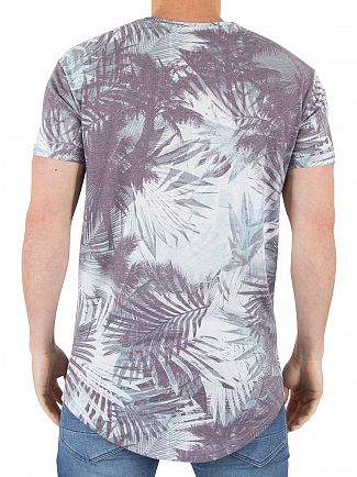 Sik Silk Washed Blue Tropics Distressed Sublimation T-Shirt