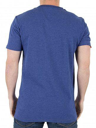 Superdry Baseball Blue Marl Orange Label Vintage EMB T-Shirt