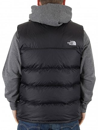 The North Face Black Nuptse Puffa Logo Gilet