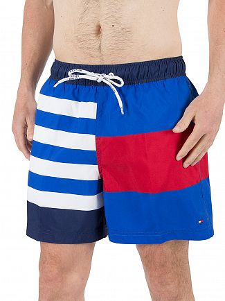 Tommy Hilfiger Nautical Blue Multi Color Stripe Shorts