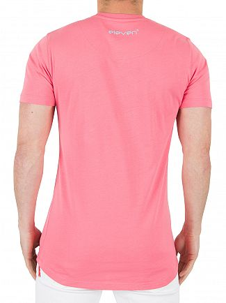 11 Degrees Pink/Blue Coloured Logo T-Shirt
