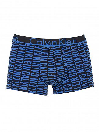 Calvin Klein Black/Blue ID 2 Pack Logo Trunks
