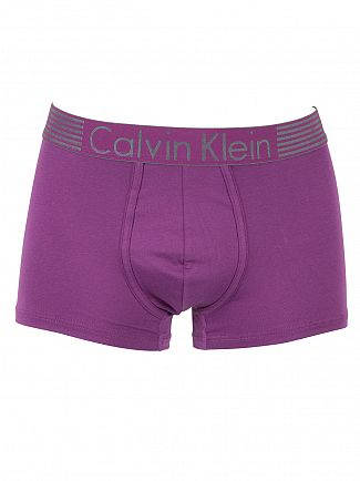 Calvin Klein Allium Purple Iron Strength Cotton Logo Trunks