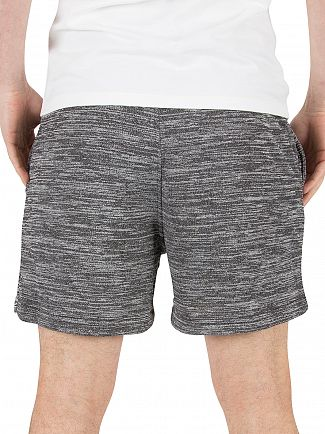 Jack & Jones Black Melange Speed Sweat Shorts