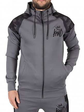 Kings Will Dream Charcoal/Camo Gasper Mesh Zip Hoodie