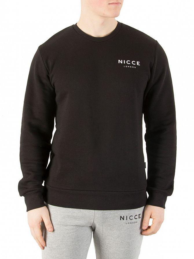 Nicce London Black Chest Logo Sweatshirt