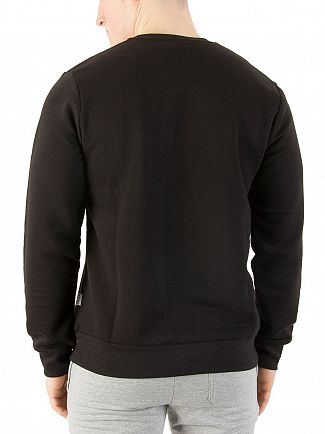 Nicce London Black Chest Logo Sweatshirt