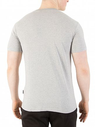 Nicce London Light Grey Marl Chest Logo T-Shirt