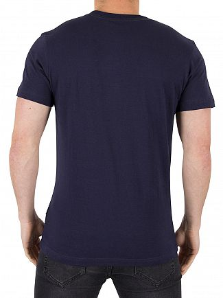 Nicce London Navy Chest Logo T-Shirt