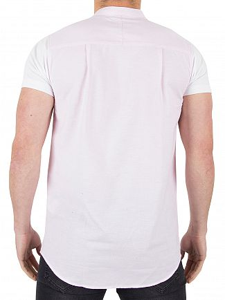 Sik Silk Pink/White Contrast Short Sleeve Shirt