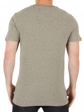 Superdry Mineral Grit Orange Label Vintage EMB Logo T-Shirt