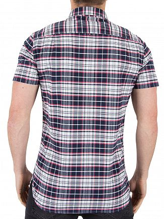 Superdry Faculty White Check Ultimate University Shortsleeved Oxford Shirt