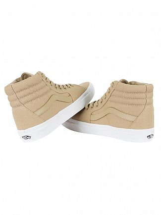 Vans Khaki/True Sk8-Hi Mono Canvas Trainers