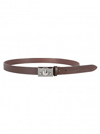 Vivienne Westwood Brown Cintura Logo Belt