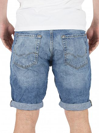 Jack & Jones Blue Rick Original 301 Denim Shorts