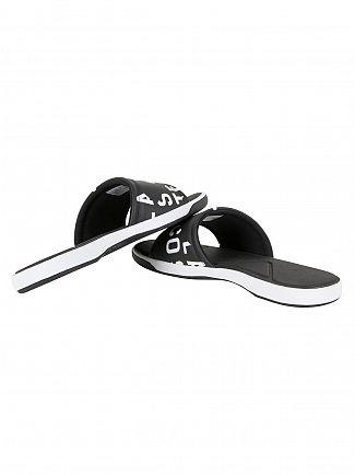 Lacoste Black L.30 Slide 217 1 CAM Flip Flops
