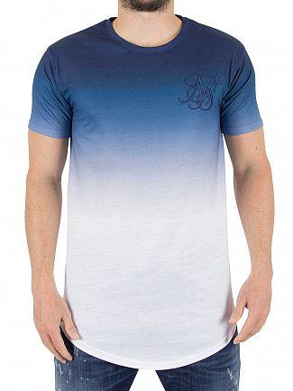 Sik Silk Navy/White Gradient Winter T-Shirt