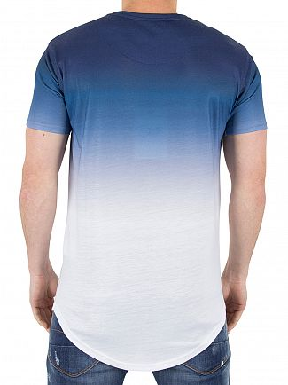 Sik Silk Navy/White Gradient Winter T-Shirt