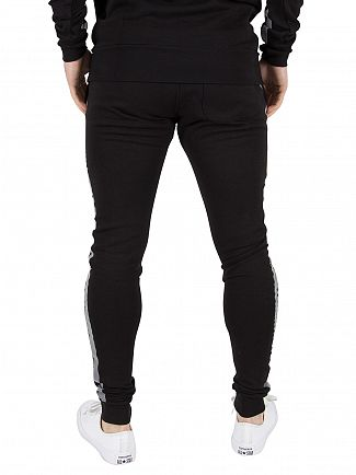 11 Degrees Black Reject Stripe Logo Skinny Joggers
