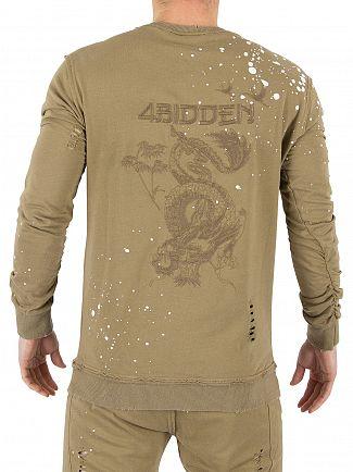 4Bidden Khaki Density Logo Sweatshirt
