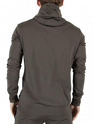4Bidden Khaki/Black Elite Zip Logo Hoodie