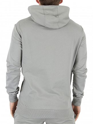4Bidden Grey Raid Zip Logo Hoodie