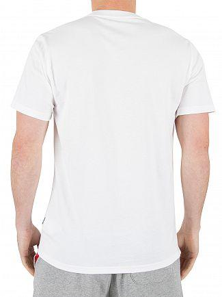 Converse White Half Mesh Logo T-Shirt