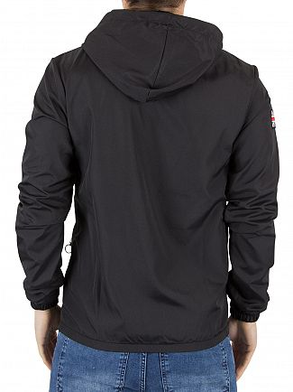 Good For Nothing Black Logo Zip Jacket