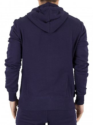 Good For Nothing Navy Logo Zip Stripe Sleeves Hoodie
