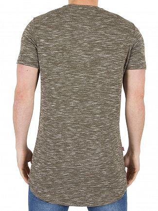 Good For Nothing Khaki Marled Logo T-Shirt
