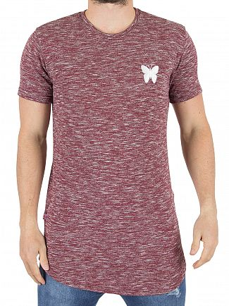Good For Nothing Burgundy Marled Logo T-Shirt