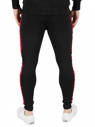 Good For Nothing Black/Red Stripe Logo Joggers
