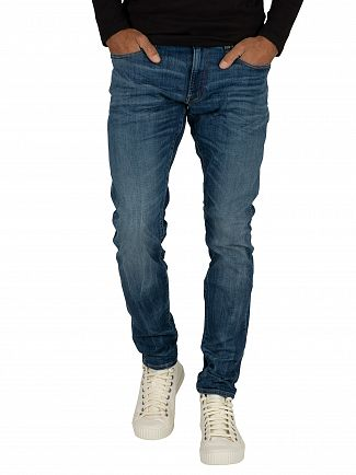 G-Star Medium Indigo 3301 Deconstructed Super Slim Jeans