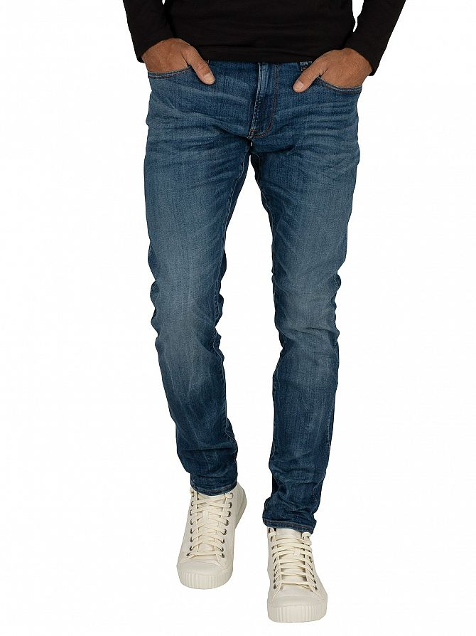 G-Star Medium Indigo 3301 Deconstructed Super Slim Jeans