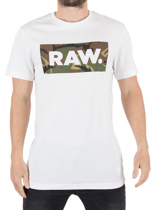 G-Star White DC Art Camo Graphic T-Shirt